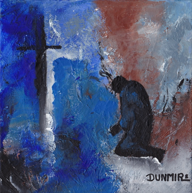 """Forgiven"" 8"" x 8""  Acrylic on gallery wrap canvas http://www.pameladunmirefineart.com"
