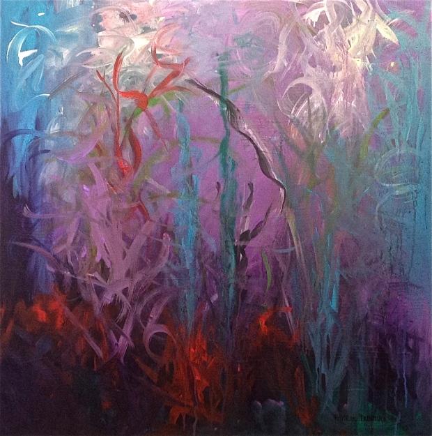 """Diving Deep"" Acrylic on Gallery Wrap Canvas, 30""X30"" http://www.pameladunmirefineart.com"