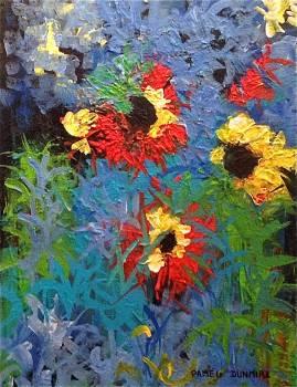 """Masquerqding"" 16""T X 12""W,  Acrylic on Gallery Wrap Canvas http://www.pameladunmirefineart.com"